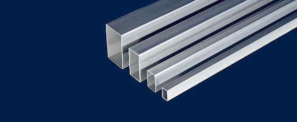 Square and rectangular stainless steel profiles