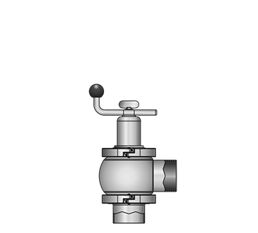 KI-DS Right-angle flow control valve 511X S-S