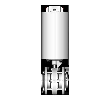 Zwischenflansch-Scheibenventil  4410 S-S